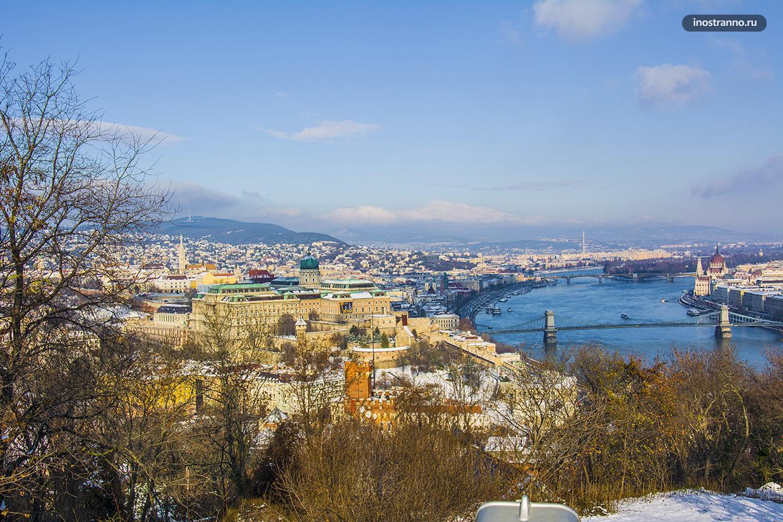 Гора Геллерт с панорамной смотровой в Будапеште