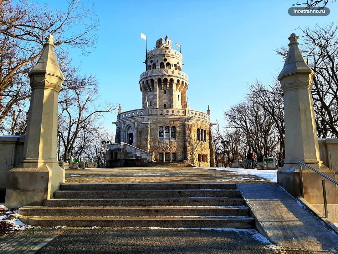 Холм Янош смотровая нетуристическая площадка в Будапеште