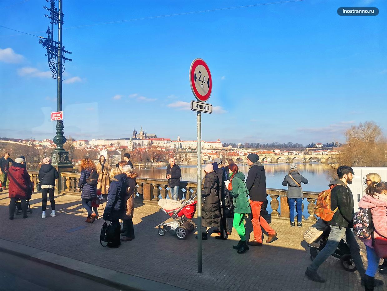 Мосту Легионов в Праге для фото панорамы