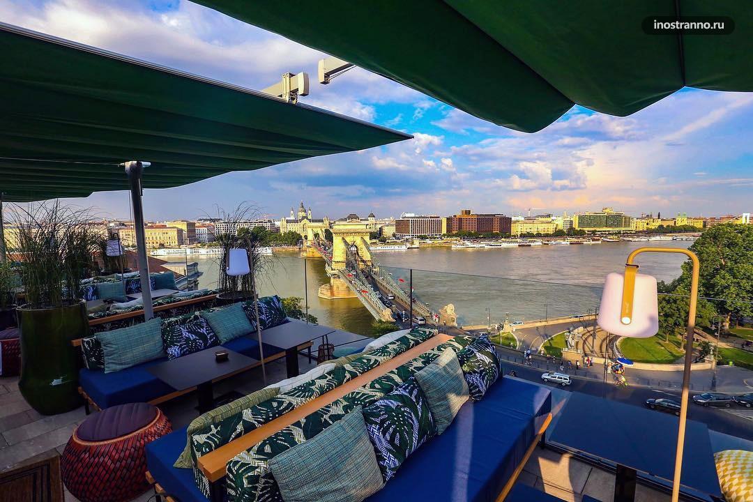Leo Skybar бар ресторан в Будапеште с красивым видом