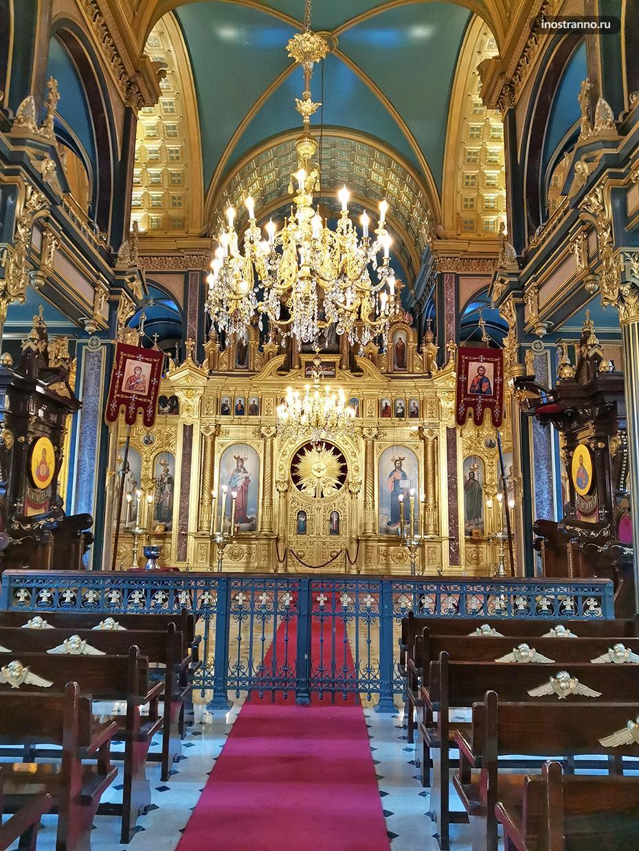 Православная церковь в Стамбуле интерьер