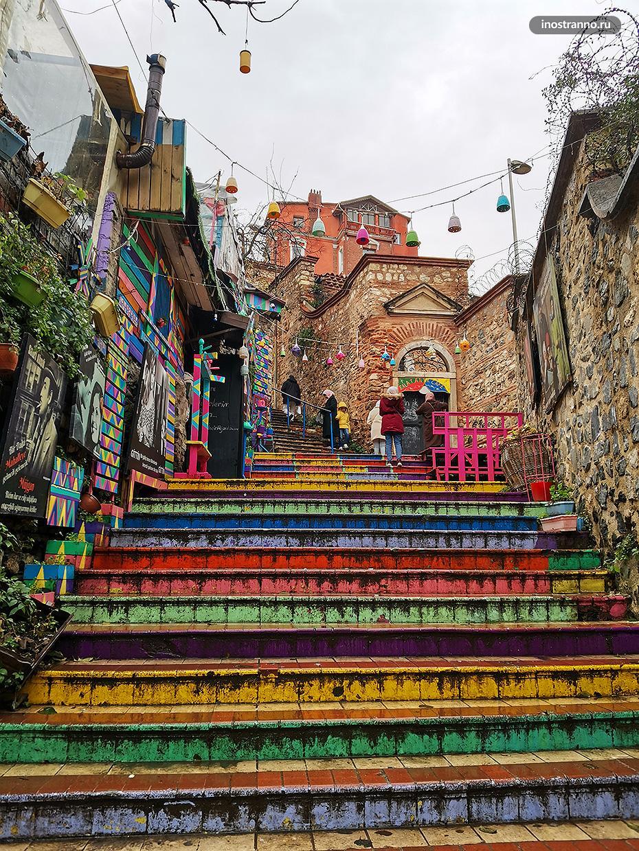 Лестница радуга в Стамбуле