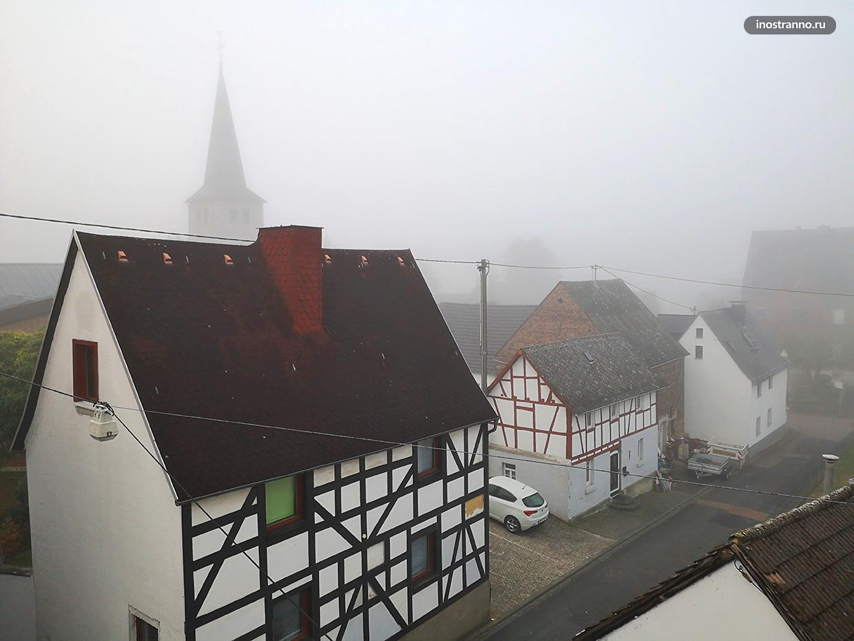 Традиционные фахверковые домики в Германии