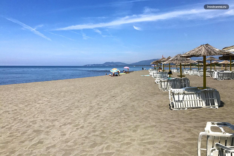 Ульцинь песчаный пляж Ада Бояна