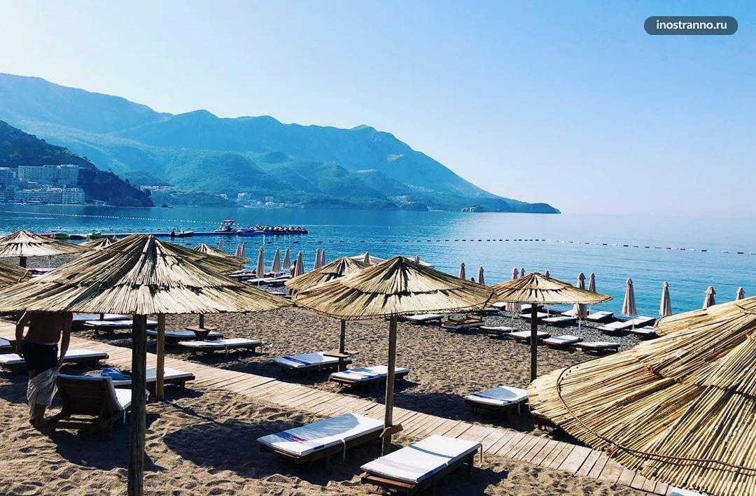 Бечичи пляж и курорт в Черногории на Адриатическом море