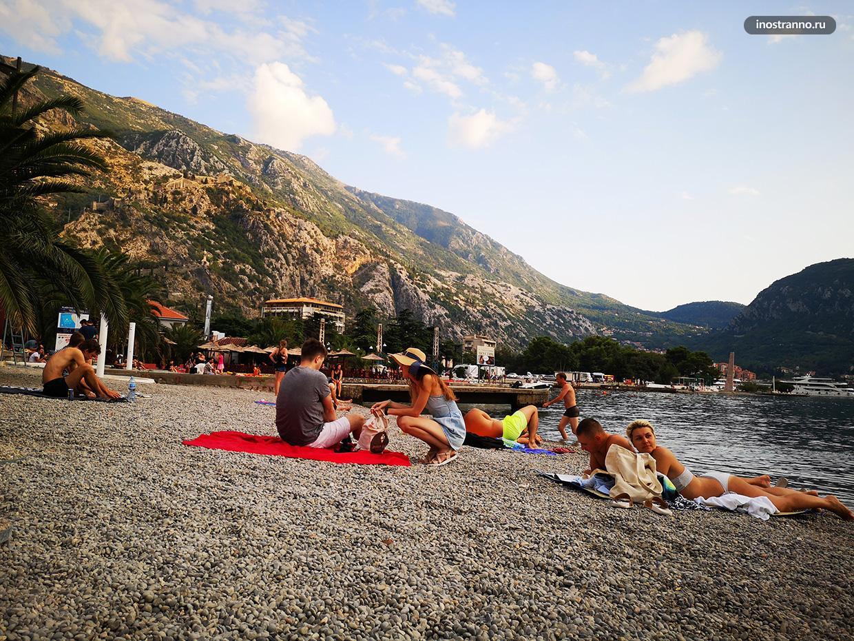 Пляж в Которе, Черногория