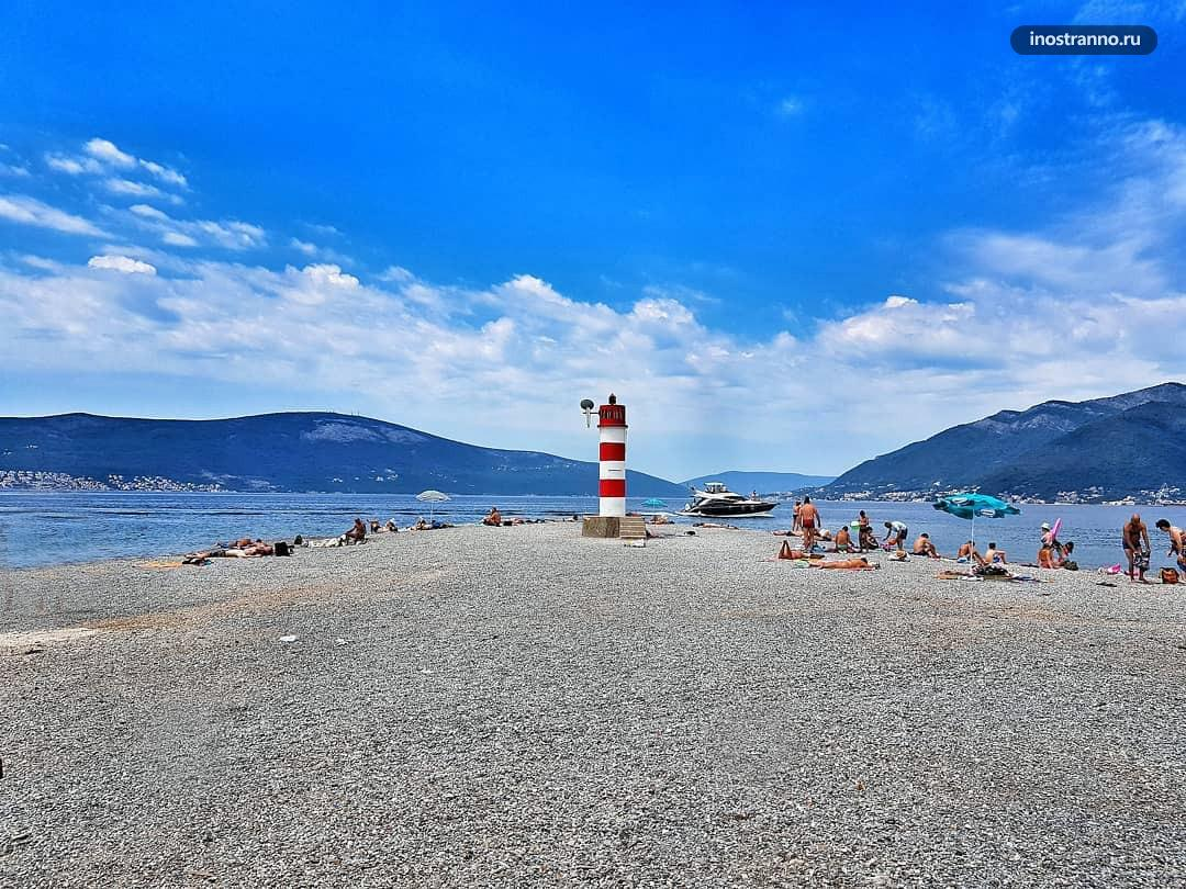 Пляж Понта лучший в Тивате
