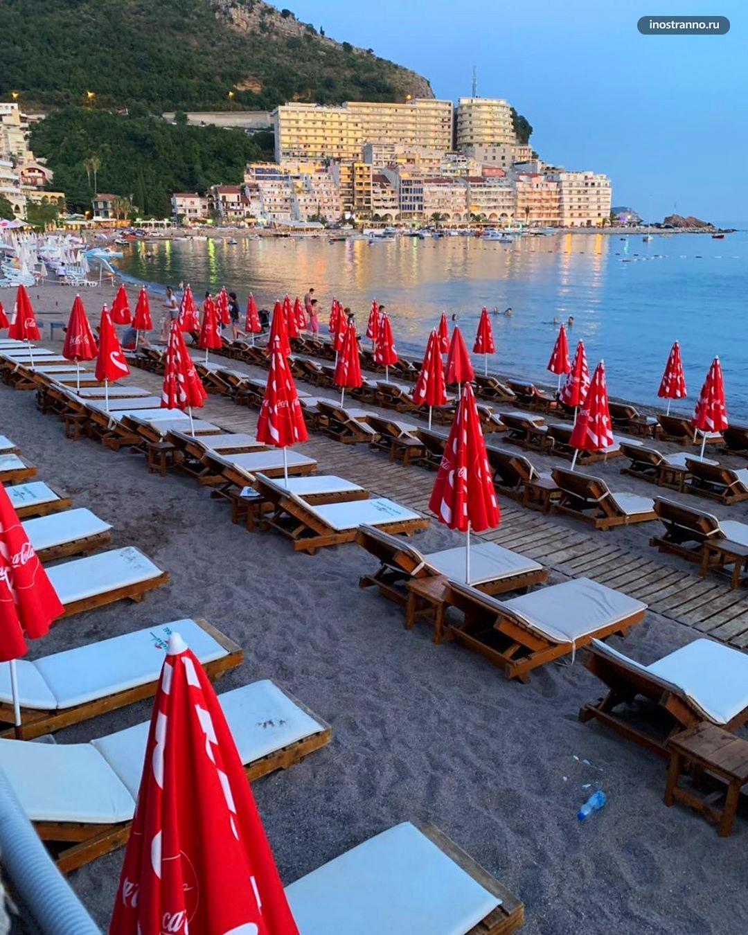 Будванская ривьера курорт и пляж Рафаиловичи