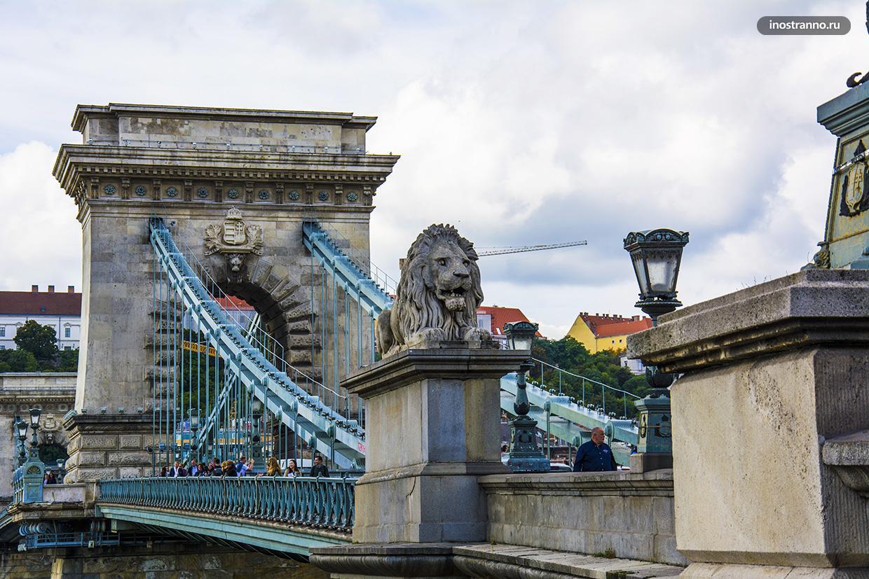 Мост Сечени через Дунай в Будапеште