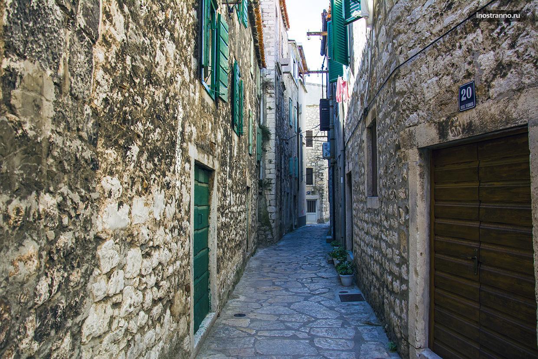 Улочки в старом городе в Хорватии