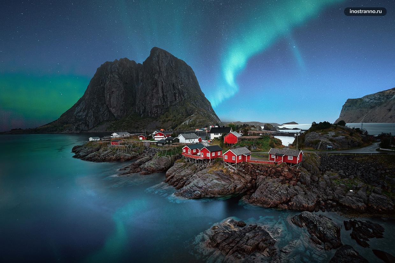 Лофотенские острова где наблюдать северное сияние в Норвегии