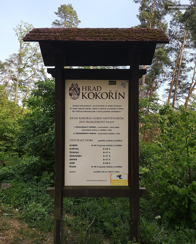 Время работы замка Кокоржин