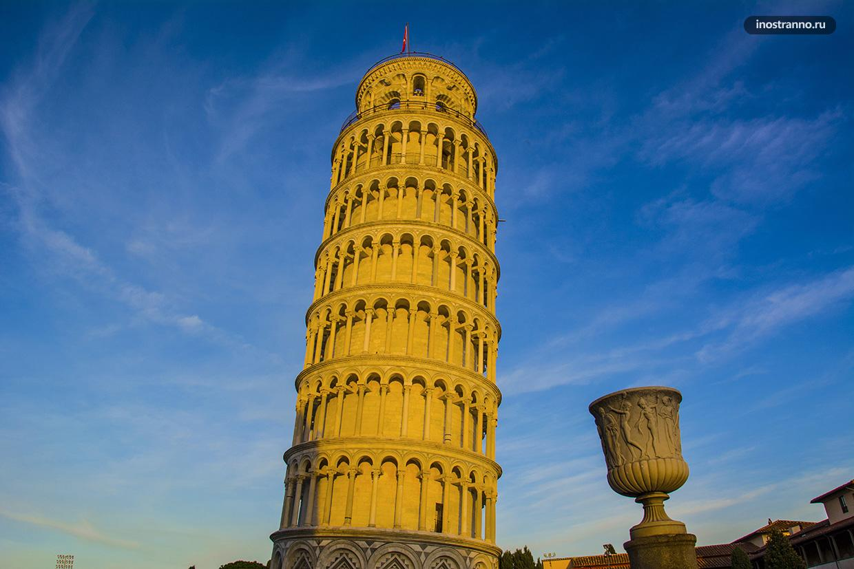Пизанская башня где находится