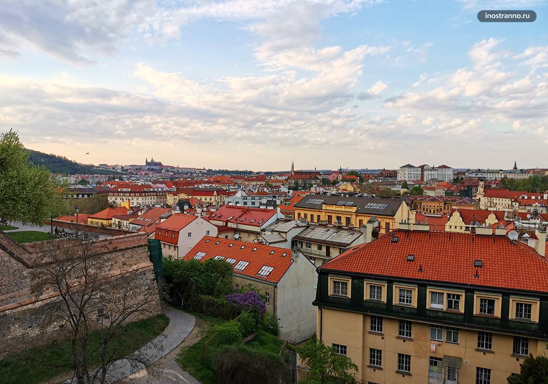 Смотровая площадка на Вышеграде в Праге