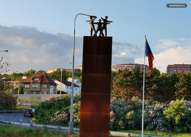 Памятник операции Антропоид в Праге
