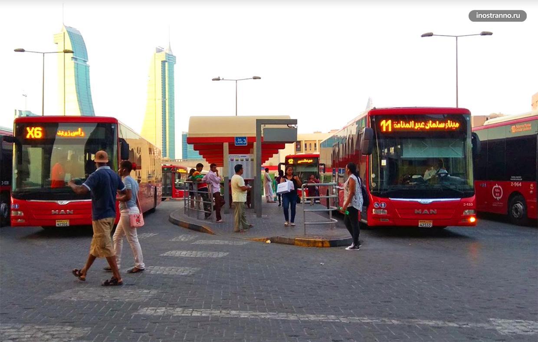 Городской автобус в Манаме и Бахрейне