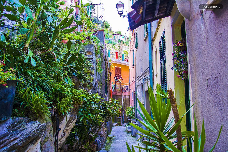 Итальянский город Риомаджоре в Лигурии