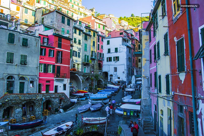 Романтичный город в Италии