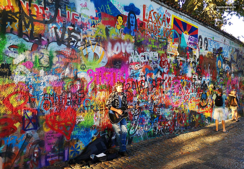 Стена Джона Леннона в Чехии
