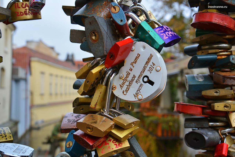 Замочки влюбленных в Праге