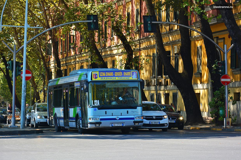Автобус в Тиране до аэропорта