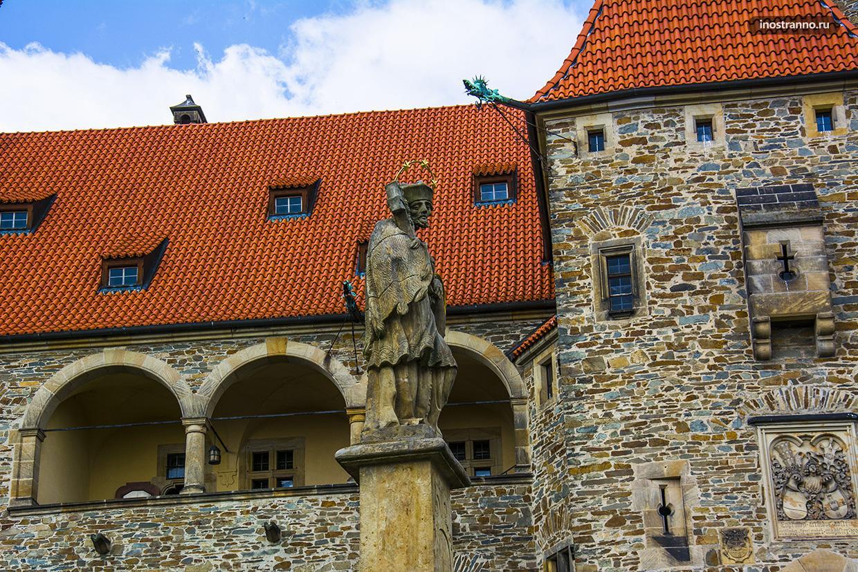 Замок Боузов недалеко от Оломоуца
