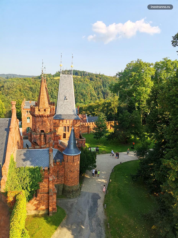 Лучший вид на замок Градец-над-Моравици