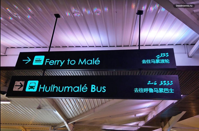 Наивгация в аэропорту Мале Мальдивы