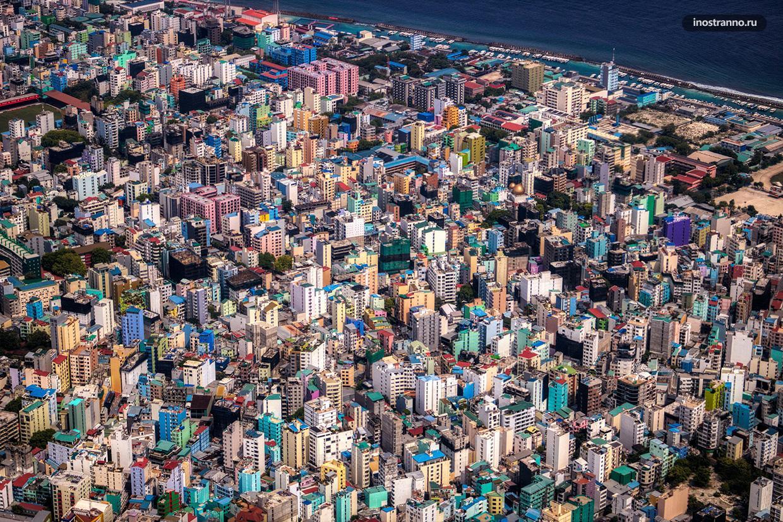 Мальдивские острова с высоты