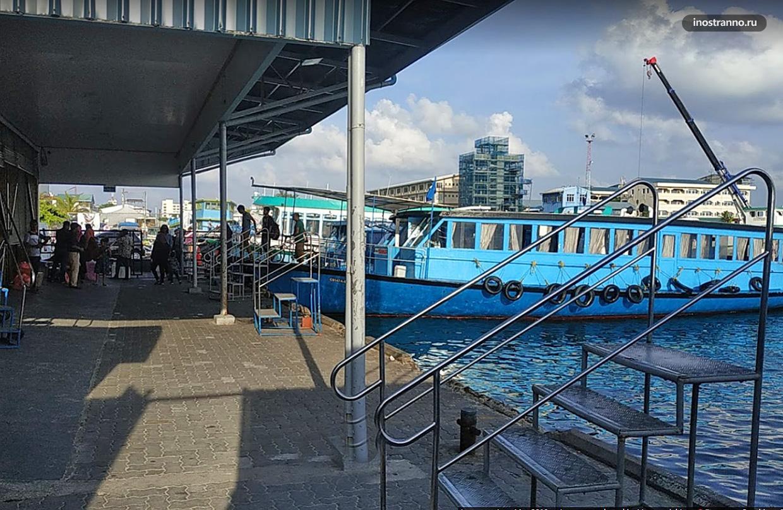 Паромный терминал Villingili на острове Мале