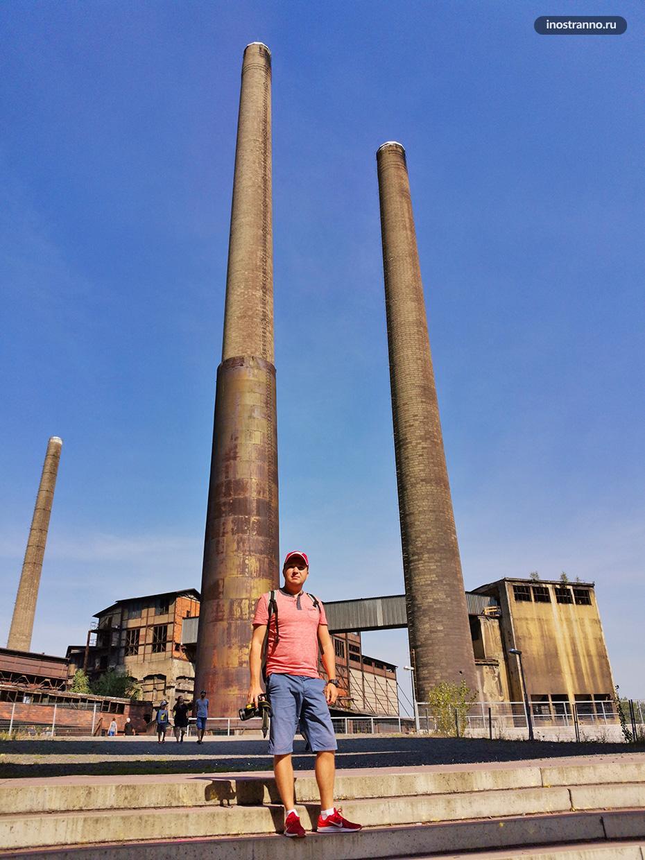Высокие трубы завода