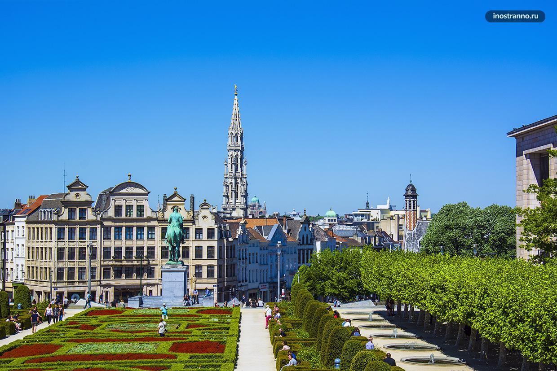 Гора искусств бесплатная лучшая смотровая площадка Брюсселя