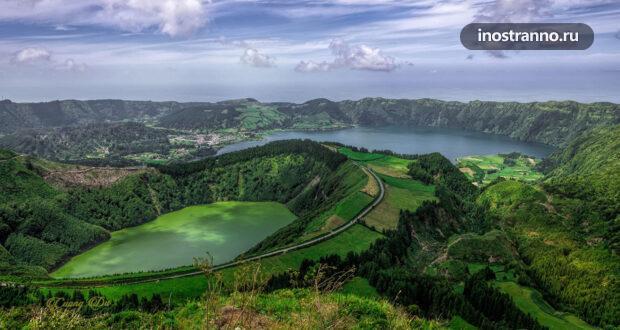 10 красивых фото Азорских островов с дрона