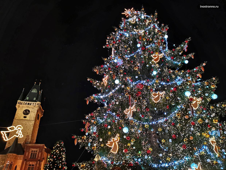Рождественская подсветка Праги