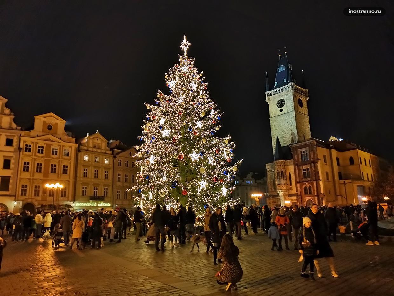 Ёлка на Новый год в Праге 2020