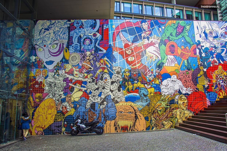 Граффити и арт по комиксам Марвел