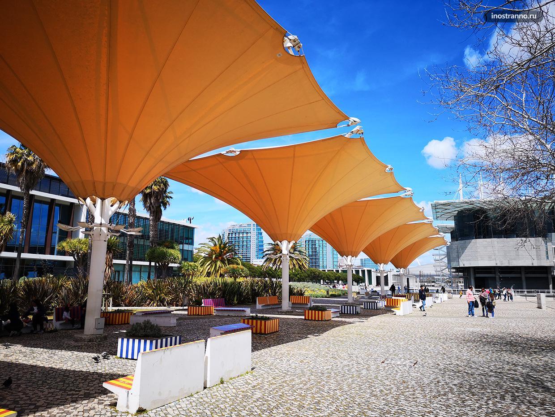 Развитая инфраструктура современного района в Лиссабоне