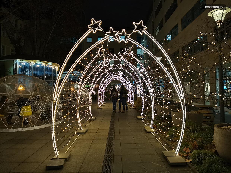 Самый красивый двор на Рождество в Праге