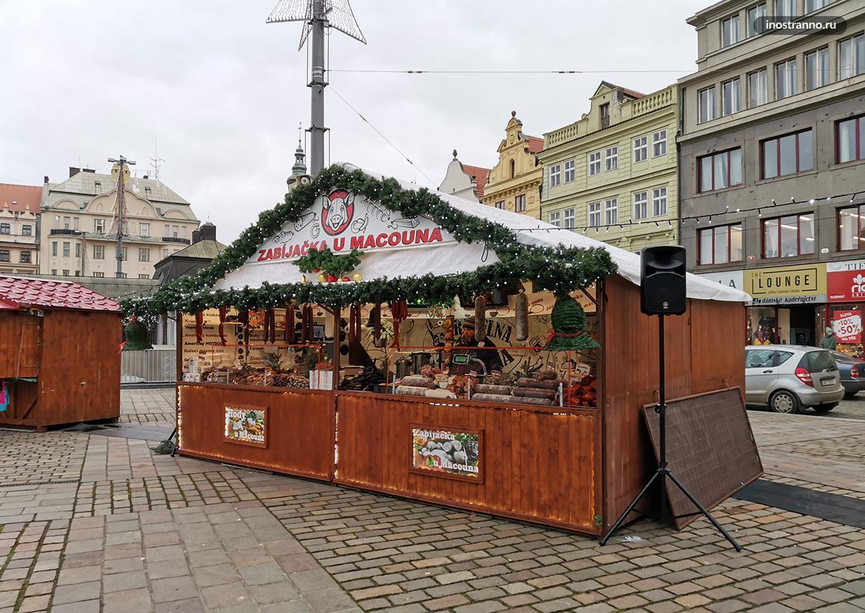 Рождественский рынок Пльзень