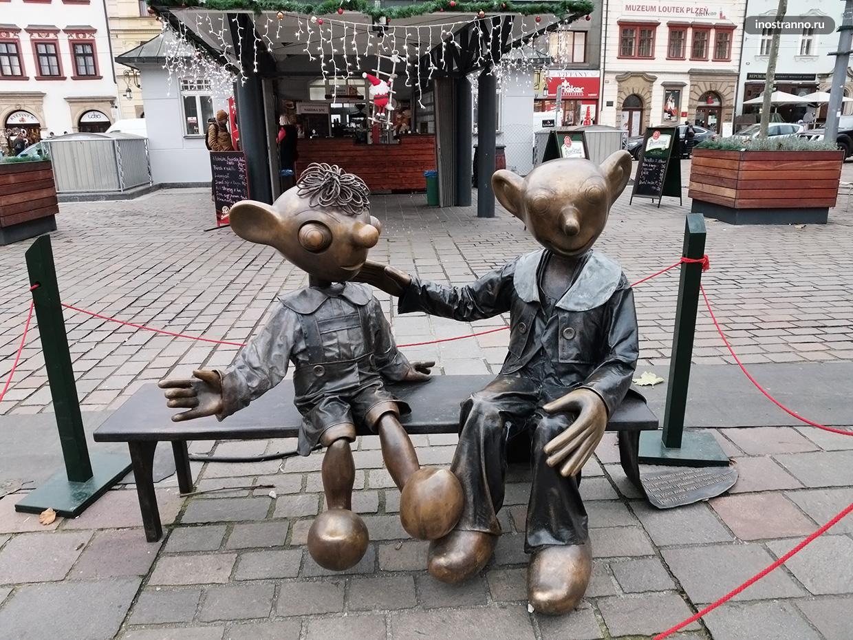 Скульптура Спейбла и Гурвинека Пльзень