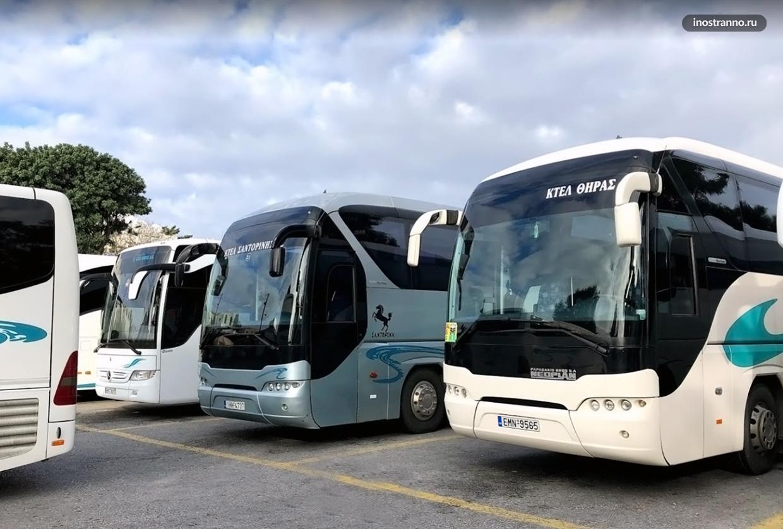 Городской автобус из аэропорта Санторини