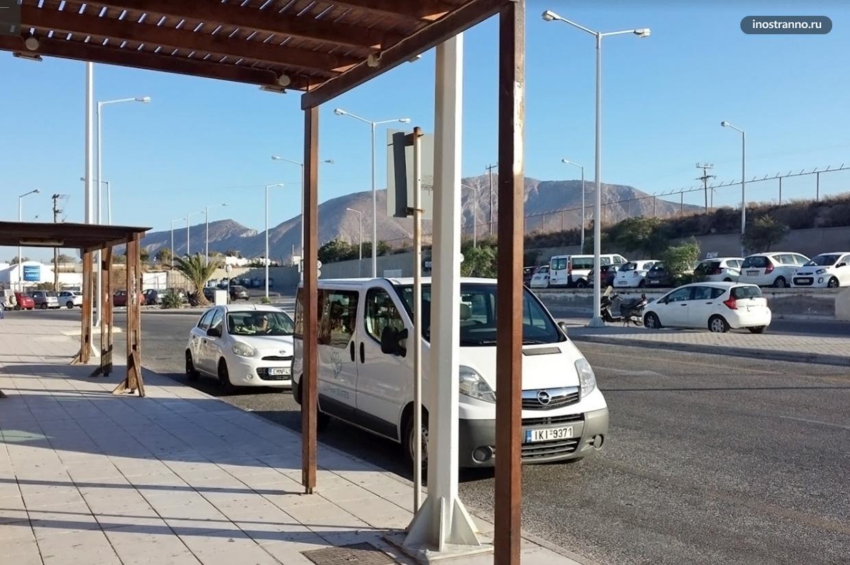 Трансфер на такси из аэропорта Санторини в Тиру
