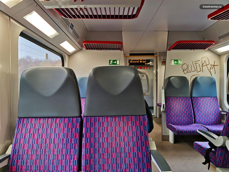 Пригородной поезд в Праге