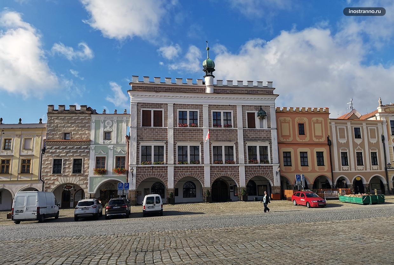 Ратуша в чешском городе Тельч
