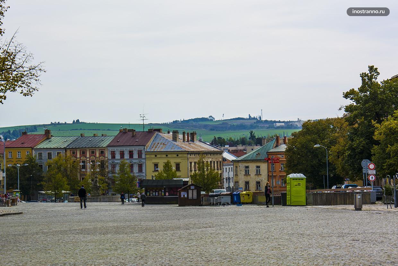 Йиглава панорама города и смотровая