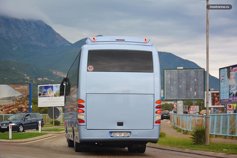 Тиват и Котор автовокзалы междугородние автобусы Черногории