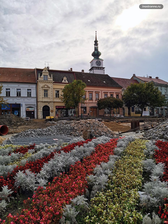 Центральная городская площадь в Тршебиче