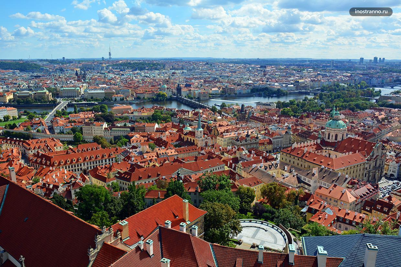 Панорамное фото Праги