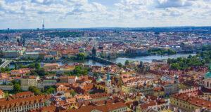 Фото Праги со смотровой башни Пражского града