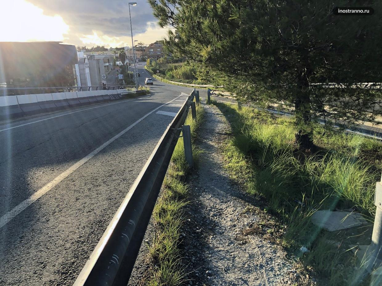 Автодороги в Испании не предназначены для пешеходов